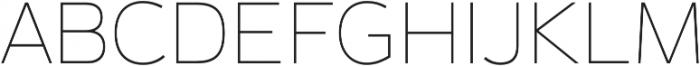 Magnum Sans Pro Alfa Thin otf (100) Font UPPERCASE