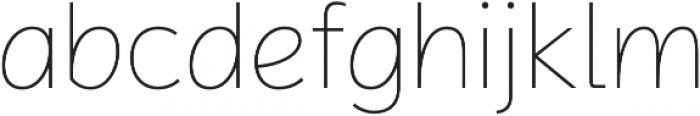 Magnum Sans Pro Alfa Thin otf (100) Font LOWERCASE