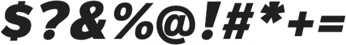 Magnum Sans Pro Black Oblique otf (900) Font OTHER CHARS