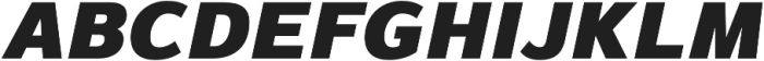 Magnum Sans Pro Black Oblique otf (900) Font UPPERCASE