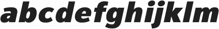 Magnum Sans Pro Black Oblique otf (900) Font LOWERCASE