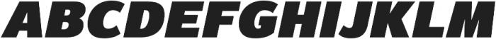 Magnum Sans Pro Extra Black Oblique otf (900) Font UPPERCASE