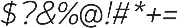 Magnum Sans Pro Extra Light Italic otf (200) Font OTHER CHARS
