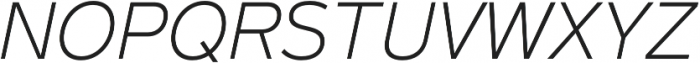 Magnum Sans Pro Extra Light Italic otf (200) Font UPPERCASE