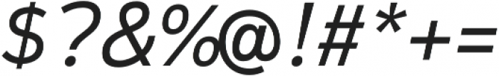 Magnum Sans Pro Light Italic otf (300) Font OTHER CHARS