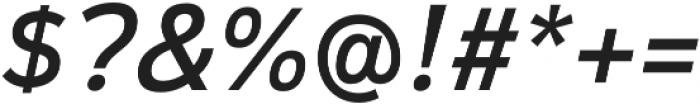 Magnum Sans Pro Medium Italic otf (500) Font OTHER CHARS