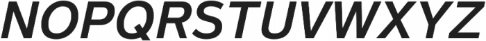 Magnum Sans Semi Bold Italic otf (600) Font UPPERCASE