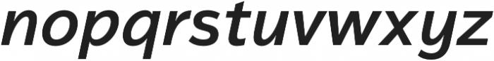Magnum Sans Semi Bold Italic otf (600) Font LOWERCASE