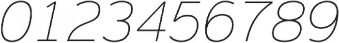 Magnum Sans Thin Italic otf (100) Font OTHER CHARS
