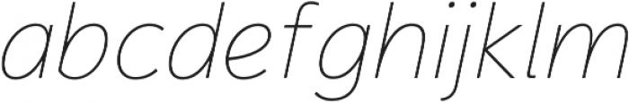 Magnum Sans Thin Italic otf (100) Font LOWERCASE
