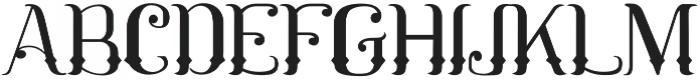 Mahaputra Regular otf (400) Font UPPERCASE