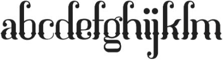 Mahaputra Regular otf (400) Font LOWERCASE
