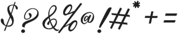 Mahligai Script otf (400) Font OTHER CHARS