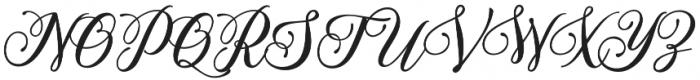 Mahligai Script otf (400) Font UPPERCASE