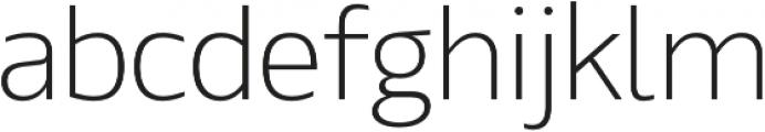 Maiden Extra Light otf (200) Font LOWERCASE
