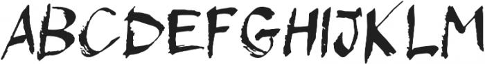 Maika Regular otf (400) Font LOWERCASE