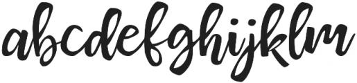 Maillias T Regular otf (400) Font LOWERCASE