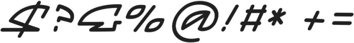 Mainline Italic otf (400) Font OTHER CHARS