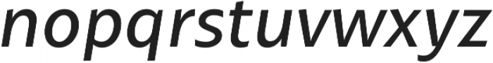 Maipo Sans Book Italic otf (400) Font LOWERCASE