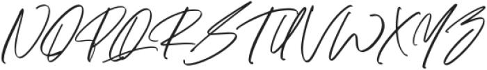 Maitland Script Italic otf (400) Font UPPERCASE