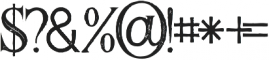 Majestic Inline Grunge otf (400) Font OTHER CHARS