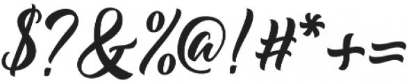 Majestika Script otf (400) Font OTHER CHARS