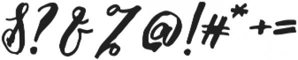 Malaga Diary otf (400) Font OTHER CHARS