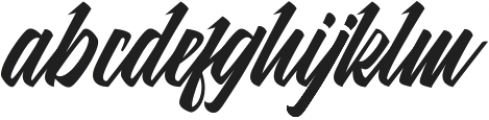 MalanayaScript otf (400) Font LOWERCASE