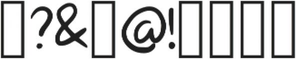 Mali Regular otf (400) Font OTHER CHARS