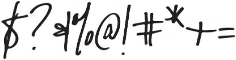Malibu Alternate otf (400) Font OTHER CHARS