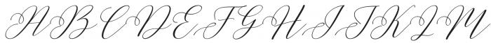 Malibu  Ring otf (400) Font UPPERCASE