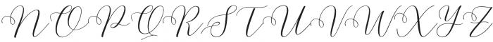 Malibu Slant otf (400) Font UPPERCASE