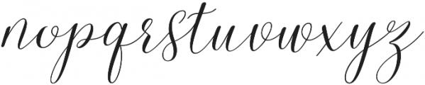 Malibu Slant otf (400) Font LOWERCASE