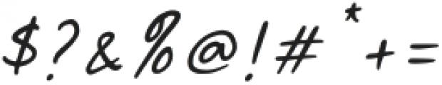 Malibu Sunset Script Italic otf (400) Font OTHER CHARS