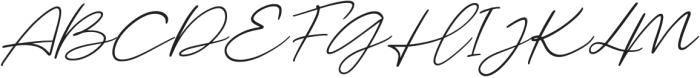 Malibu Sunset Script Italic otf (400) Font UPPERCASE