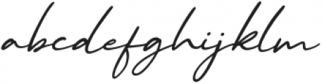 Malibu Sunset Script Italic otf (400) Font LOWERCASE