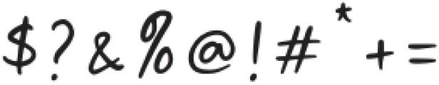 Malibu Sunset Script otf (400) Font OTHER CHARS