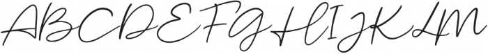 Malibu Sunset Script otf (400) Font UPPERCASE