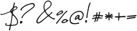 Malina1 Regular otf (400) Font OTHER CHARS