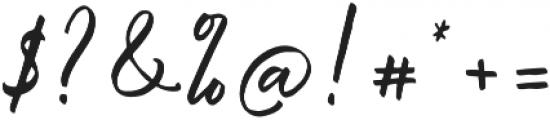 Malisso otf (400) Font OTHER CHARS