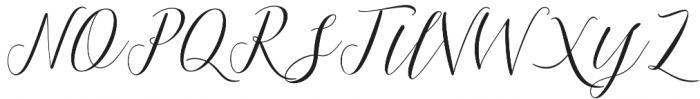 Mallicot Script Regular otf (400) Font UPPERCASE