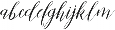 Mallicot Script Regular otf (400) Font LOWERCASE