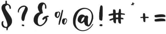 Mallory Script otf (400) Font OTHER CHARS