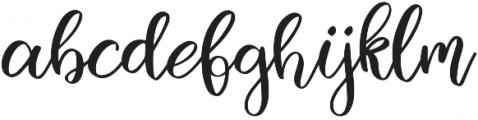 Mallory Script otf (400) Font LOWERCASE