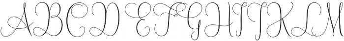 Mallow Script otf (400) Font UPPERCASE