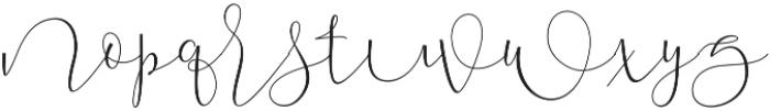 Mallow Script otf (400) Font LOWERCASE