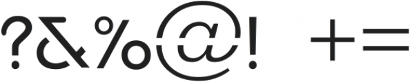 Manasco otf (400) Font OTHER CHARS
