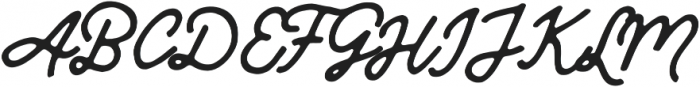Mandatory Script otf (400) Font UPPERCASE