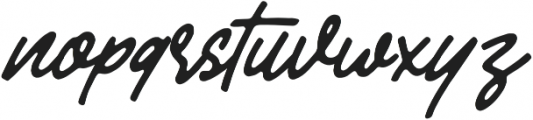 Mandatory Script otf (400) Font LOWERCASE