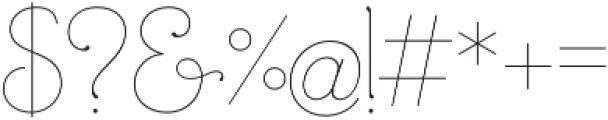 Mandevilla Light otf (300) Font OTHER CHARS